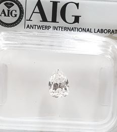 0.70Cts, Pear Shape, E/VVS1