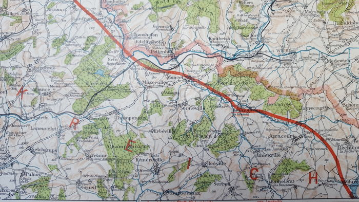 Map Of Western France.2 German Maps Of North France Western Front The Marne Nancy