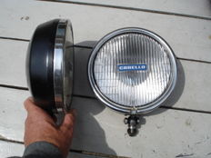 Two Used CARELLO SPOTLIGHTS with a diameter of 190 mm from the 1970 and 1980s