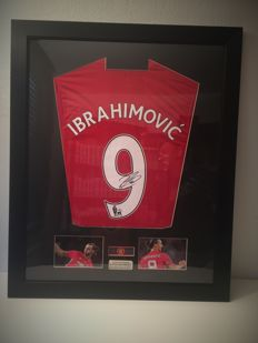 ZLATAN IBRAHIMOVIC original signed and framed MANCHESTER UNITED 2016/2017 shirt + photo private autograph session