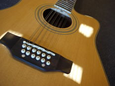 New ChS 12-string electro-acoustic guitar, natural