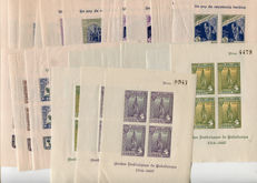 Spain 1936–1939 – lot of 23x local miniature sheets of the Spanish Civil War