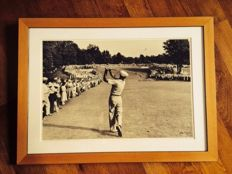 Golf, Vintage, Ben Hogan, signed, and framed photograph, 1950 US Open