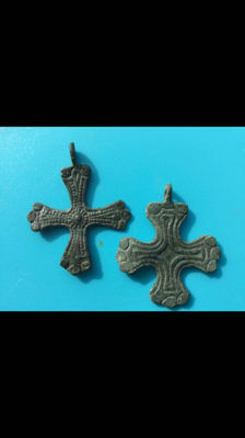 2 antique Viking pendants from the early medieval period 10th - 11th century Scandinavia