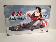The Collins Foundation B-24 Liberator Airforce - Pin-Up - heavy steel sign - 2010 USA