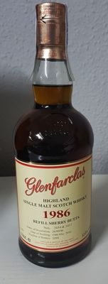 Glenfarclas 1986 Refill Sherry - limited edition - OB