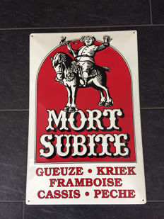 Very nice advertising sign: Mort Subite