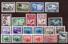 Spain 1930–1938 – set of complete series – Edifil 583–591, SH 849, 756, NE38