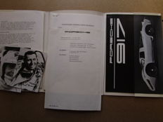Porsche 917 and 908 - 917 catalogue and 908 press kit  / 1000 km of Spa - 1969