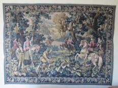 "Large tapestry/gobelin ""Falconry with Emperor Maximilian"""