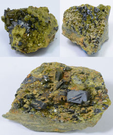 Lot of Gorgeous Magnetite with Epidote Specimen- 34 to 46 mm - 160 gm
