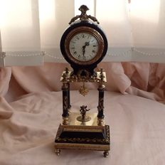 Miniature Gilded Sevre Porcelain Portico clock  - second half 20th century