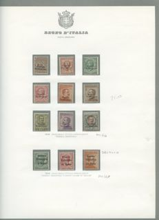 Italy — Venezia Giulia — collection of stamps with overprint in excellent condition. Some BDF series — mounted on Bolaffi album sheets