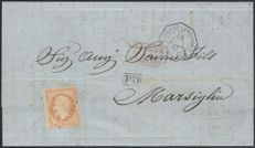 France 1867 – Maritime Anchor Constantinople P.FR.U No. 2 – Yvert No. 23