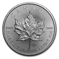 1 oz silver 999.9 coin from Canada