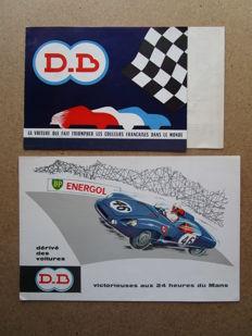 DB (Deutsch-Bonnet) - Lot of 2 Coach brochures and Le Mans convertible - 1958/1960