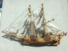 Unique handcrafted ship model