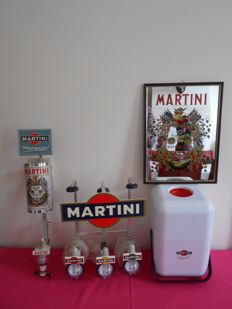 MARTINI _ ice bucket _ Mirror _ bottle holders _ Ca. 1970