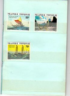 France 1981/2006 - Stamps from French Polynesia with 3 booklets and souvenir sheets - Incomplete years