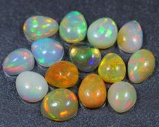 Lot Beautiful Natural Solid Opal - 8 cts ( 14 )