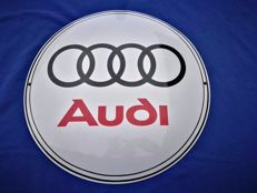 AUDI - large (50 cm) enamel/emaille sign