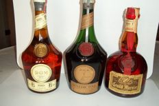 1 x liqueur D.O.M. Bénédictine bottled 1960s & 1x liqueur D.O.M. B&B bottled 1980s & Grand Marnier Cordon Rouge bottled 1960s (3 bottles total)