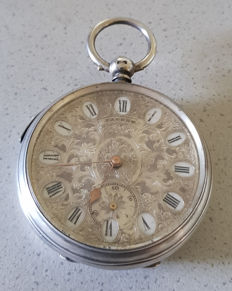 13. Patent - pocket watch - rotating switch dial - around 1866