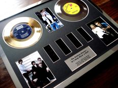 "The Rolling Stones : Gold PLatinum Plated Disc Record Film Cell Montage Award ""Shine Light"""
