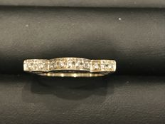 White gold ring with diamonds, 0.20 ct - size: 17 (IT)
