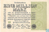 Allemagne 1 Million Mark 1923 (P102a - Ros.101a)
