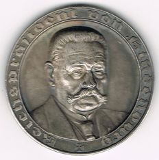 Third Reich - Silver Medal 1934 by F. Beyer commemorating to the Death of Paul von Hindenburg