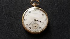 Eberhard pocket watch in 18 kt gold.