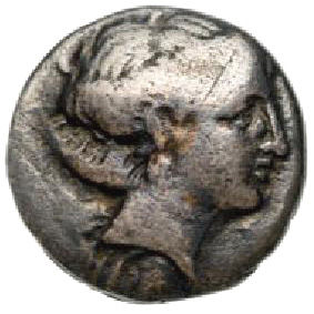 Greek Antiquity - Chalkis, Euboia. AR drachm, 338-308 BC