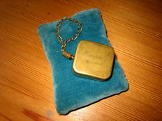 Vintage miniature music box pendant Thorens - Switzerland Mid 20th century