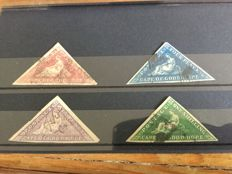 Cape of Good Hope - Small collection with 3 margins