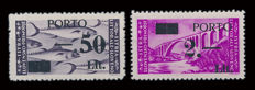 Italy, 1946 – Istria and Slovene Littoral, 1946 – Stamps with overprint 'Porto e nuovo valore' (Postage and new value)  – Printing insert II.