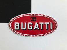 Bugatti - sign in pressed metal - circa 1980