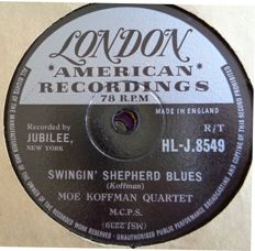 78 rpm records Swing and Jazz, including Artie Shaw,  The Andrew Sisters, Moe Koffman, Teresa Brewer etc.