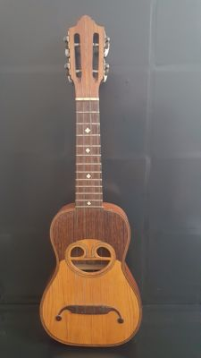 small guitar Cavaquinho Handmade Instrument of Portuguese Origin piece of collection in Noble Woods