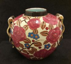 Raymond Chevalier for Boch Freres - Art Deco vase with floral decor