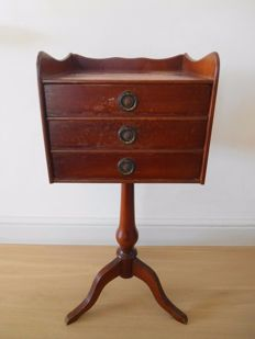 Mahogany table with three drawers, second half 20th century