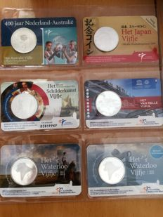The Netherlands – 5 Euro coins 2006/2017 (14 pieces) in coin cards