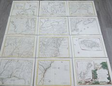 North America; Antonio Zatta - Le Colonie Unite dell' America Settentrionale [Complete Set of 12 sheets] - 1778