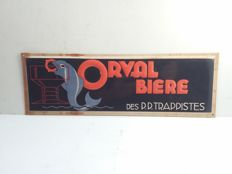 Tin advertising signs Orval from Belgium - approx. 2003.