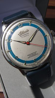 Atlantic Wolmeister XXL - Big Milano - Swiss made - Big line - men's watch - 1950s - 17 Jewels - Unique collector
