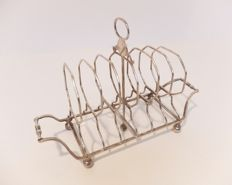 Toast rack in solid silver, England, London, 1805