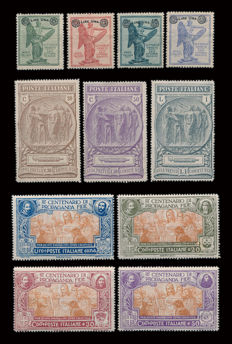 Kingdom of Italy, 1923-1924 – Lot of 3 complete series
