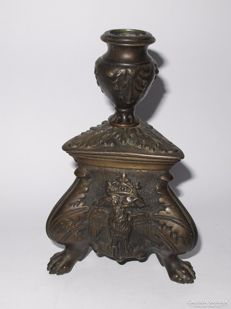 Bronze candle holder possibly Russian - late 19th century