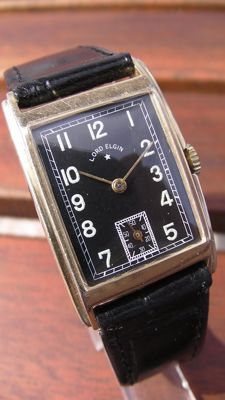 LORD ELGIN – Made in USA – Men's – 1950 – Vintage Art Deco – 14K Gold Plated