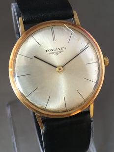 Longines 18 kt gold Men's wristwatch - Approx. 1960s.